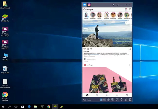 instagram on pc with bluestacks